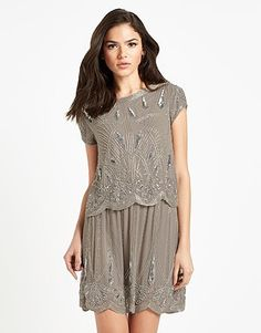 Womens mole frock and frill 2 in 1 tiered sequin dress from Lipsy - £135 at ClothingByColour.com