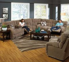 catnapper siesta 3 piece lay flat reclining sectional sofa set in porcinisnickerdoodle