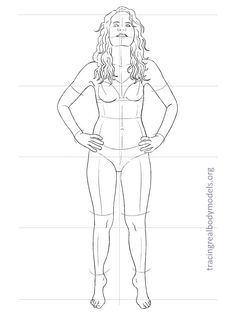 Tracing Real Body Models   An alternative to the stereotypical fashion figure templates