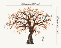 Grand arbre généalogique muraux Stickers muraux chambre