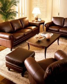 Leather Furniture Fabrics And Ottomans On Pinterest