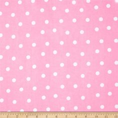Flannel Dots Pink from @fabricdotcom  Designed for Fabri-Quilt, this soft, double-napped fabric (brushed on both sides) is perfect for quilting, apparel and crafts. Colors include white and pink.