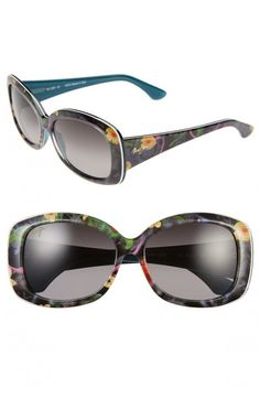 2b2cd27340 Maui Jim Women's You Move Me 60mm Polarized Sunglasses Silk White Teal One  | Glasses,