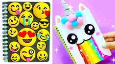 15 diy notebooks for back to school 2018 School Supplies Tumblr, Diy School Supplies, Slime, Diy Notebook Cover, Diy Back To School, Diy Tumblr, Unicorn Crafts, Diy Phone Case, Crafts For Girls