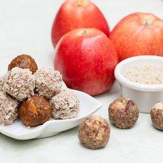 Vegan Apple Pie Bliss Balls. An apple a day
