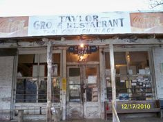 Taylor Grocery & Restaurant in Taylor, MS. I want to visit here simply because I adore the old southern ways.