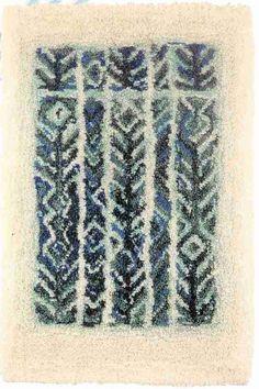 Wetterhoff - Ryijyt - METSÄMIES VALMIINA Art Textile, Textile Design, Rya Rug, Fabric Rug, Penny Rugs, Tapestry Weaving, Rug Hooking, Floor Rugs, Handmade Rugs