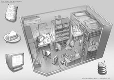 Feng Zhu Design: Adventure Game Room Designs, FZD Term 2