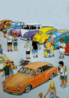 Cool Ghia wagon artwork... Dessin de Pascal Meslet