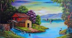 Resultado de imagen para imagenes de paisajes para pintar en acrilico
