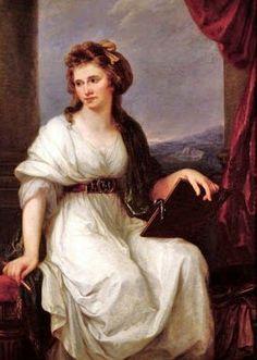 1741 Maria Anna Angelica Katharina Kauffman (Swiss-Austrian Neoclassical artist, 1741-1807) -1787 Self Portrait