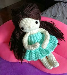 My crochet dolls : waiting for my new dress...