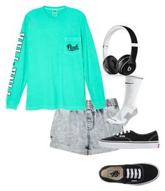 """""""Idek"""" by mayarose1704 ❤ liked on Polyvore featuring Victoria's Secret, NIKE, Vans and Beats by Dr. Dre"""