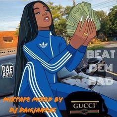 Art Black Love, Black Girl Art, Pop Art Girl, Dope Cartoons, Dope Cartoon Art, Cartoon Design, Drawings Of Black Girls, Trill Art, Black Girl Cartoon