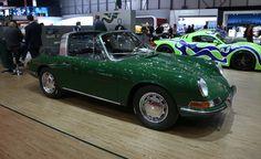 Longtime Porsche tuner Ruf brought along this stunning Irish Green 1967 911 Targa, apparently for no other reason than to play back-up to a more modern Targa-based 911 creation.   - PopularMechanics.com