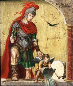 4 mei: H. Florian van Lorch (overleden 304), beschermheilige tegen brandgevaar en voor brandweerlieden
