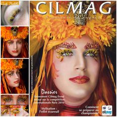 Front cover of magazine Fantasy lash art, fire lashes, Coloured lash extensions. Fantasy lashes. Cindy Nicholls iLashtique