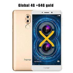 International Firmware Huawei Honor 6X 4GB RAM 32GB/64GB ROM Kirin 655 Octa Core Mobile Phone 5.5 Inch Fingerprint Android 6.0
