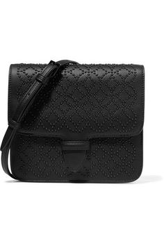 Alaïa - Arabesque Mini Embellished Textured-leather Shoulder Bag - Black - one size