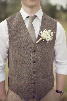 2016 New Farm Wedding Brown Herringbone Wool Tweed Vests Custom Made Groom'S Suit Vest Slim Fit Tailor Made Wedding Vest For Men Plus Size Grooms Attire Mens Double Breasted Vest From Brucesuit, $78.9| Dhgate.Com