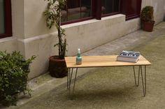 Table basse ELVIS [vintage en chêne / pieds compas]
