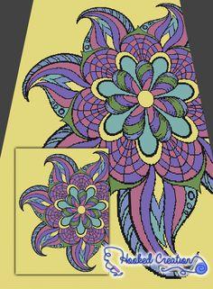 Flower Mandala SC Twin Blanket Crochet Pattern - PDF Download