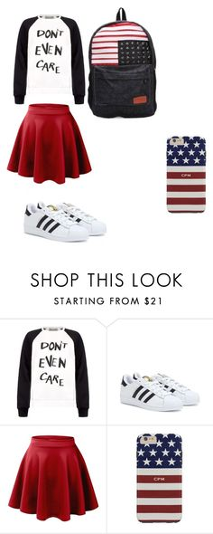 """USA schoolday"" by beautynezz-dlxix ❤ liked on Polyvore featuring Être Cécile, adidas and LE3NO"