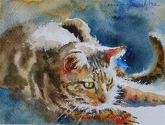 "Daily Paintworks - ""Whiskers"" - Original Fine Art for Sale - © Lorraine Lewitzka"