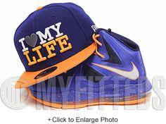 I Love My Life Galaxy Dark Royal Blue Highlighter Orange New Era Fitted Cap