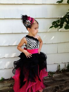 Little girls ball gown. pageant dress for little girls. pageant dress #fatherdaughterdance #zebra #createkidscouture https://www.etsy.com/shop/RufflesandRouge?ref=si_shop