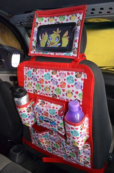 Baby Sewing Projects, Sewing For Kids, Free Sewing, Sewing Hacks, Sewing Crafts, Car Seat Organizer, Sewing School, Art Corner, Car Storage