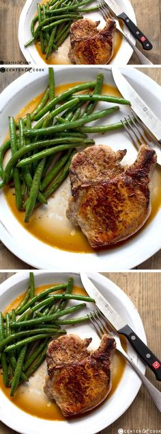 Pan-Roasted Pork Chops! Twenty minutes and your delicious, healthy, and hearty dinner is served.