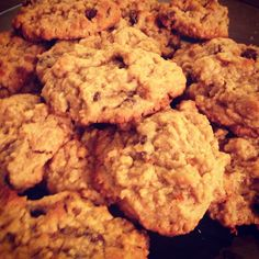 Double peanut butter oatmeal cookies with chocolate chips. I ate until I was sick. :)