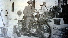 Jorge Ubico  A bordo de su Harley Davison