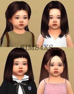 """Lana CC Finds toddlers """" 's hair for Toddlers. Lana CC Finds toddlers """" 's hair for Toddlers. Sims 4 Toddler Clothes, Sims 4 Cc Kids Clothing, Sims 4 Mods Clothes, Girl Clothing, Mods Sims, Sims 4 Game Mods, Sims Four, Sims 4 Black Hair, Sims 2 Hair"""