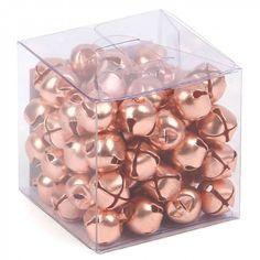 Copper jingle bells - box of 72 - All Christmas Decorations - Christmas Shop