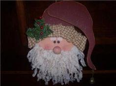 Items similar to Primitive Santa Clause Wood Craft Pattern - Dear Santa, Define Good. on Etsy Painted Wood Crafts, Primitive Wood Crafts, Primitive Santa, Rustic Crafts, Primitive Christmas, Primitive Doll, Country Crafts, Wooden Crafts, Country Primitive