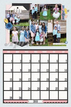 April Calendar for 2018 by Liz