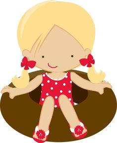Blond haired girl in floatie Beach Clipart, Summer Clipart, Cute Clipart, Art Background, Background Patterns, Scrapbook Images, Baby Posters, Barn Quilts, Summer Fun