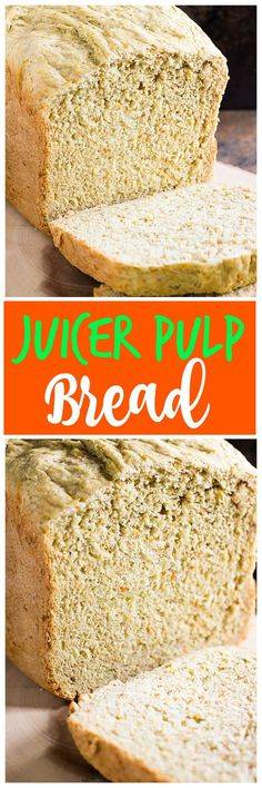 If you have a juicer and want an idea on using the leftover pulp, you have to make this Juicer Pulp Bread! No more wasting the beneficial pulp.