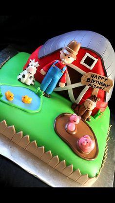 Old McDonald farm birthday cake  Renee's WICKED Good Cakes  Like us on facebook!