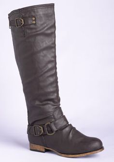 tenley harness boots in brown from dELiAs