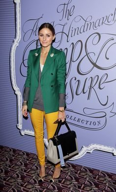 THE OLIVIA PALERMO LOOKBOOK: Looking back on Olivia Palermo Style 2012: : Best Use of Color GORGE!
