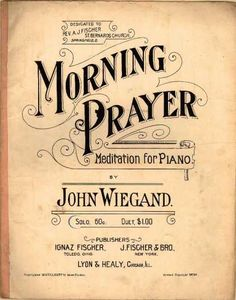 Sheet Music - Morning prayer; Meditation for piano; Op. 129   OMG, I think I played this at one of my piano recitals.  i can hear it in my head.