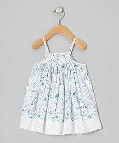 Take a look at this Light Blue Star Flora Dress - Infant & Toddler by Aioty on #zulily today!