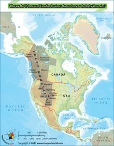 what are the us states and canadian provinces that are home to the rocky mountains