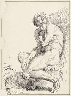 Naakte man, Jacob de Wit, 1705 - 1754