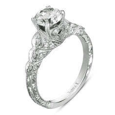 Vanna K Engagement ring.... with an asscher diamond as the center instead of this round