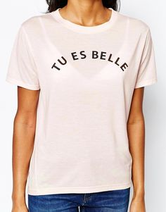 Shop Whistles Tu Es Belle Exclusive T-Shirt at ASOS. Better In French, Whistles, Asos, Mens Tops, T Shirt, Shopping, Graphics, Women, Image