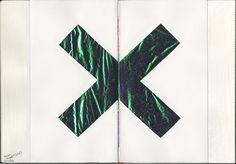The XX album cover art mixed media collage by Karoliina Pärnänen, 2016.